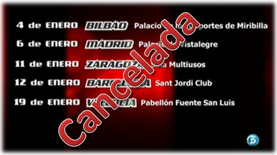 La gira de La Voz se ha cancelado